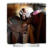 Morning Saddles Shower Curtain