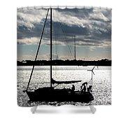 Morning Sail Shower Curtain