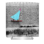 Morning Sail Shower Curtain by James Brunker