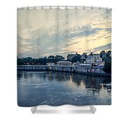 Morning Skies On The Fairmount Waterworks Shower Curtain