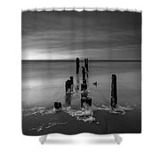 Morning Suds 16x9 Bw Shower Curtain