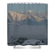Morning Sun On Utah Mountains Shower Curtain