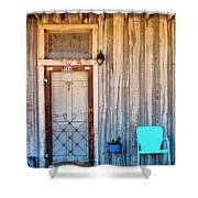 Morning Sun Pioneer Town Shower Curtain