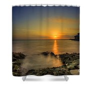 Morning Sun Rising In The Grand Caymans Shower Curtain by Dan Friend