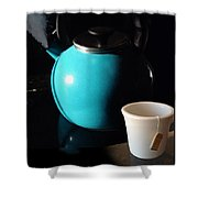 Morning Tea Two Shower Curtain