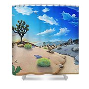 Joshua Tree Morning To Night Shower Curtain