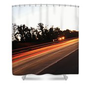 Morning Traffic On Highway Shower Curtain