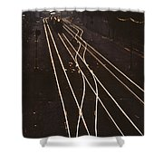 Morning Train Shower Curtain
