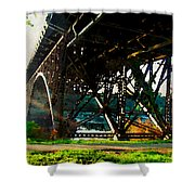 Morning Under The Bridge Shower Curtain