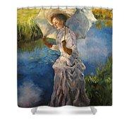 Morning Walk Shower Curtain by Diane Kraudelt