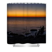 Morning Water Colors Shower Curtain