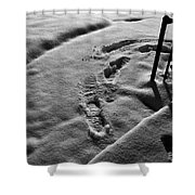 Mornings First Footprints  Shower Curtain
