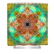 Moroccan Sun Mandala Shower Curtain