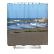 Moroccan Fishing Village Shower Curtain