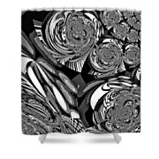 Moroccan Lights - Black And White Shower Curtain