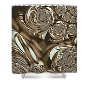 Moroccan Lights - Brown Shower Curtain