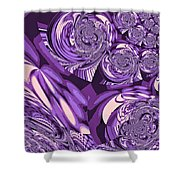 Moroccan Lights - Purple Shower Curtain