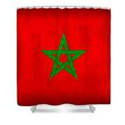 Morocco Flag Vintage Distressed Finish Shower Curtain
