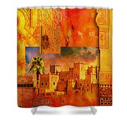 Morocco Heritage Poster 00 Shower Curtain by Catf