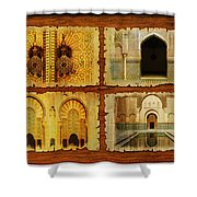 Morocco Heritage Poster 01 Shower Curtain by Catf