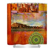Morocco Heritage Poster Shower Curtain