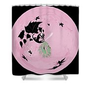 Morphed Art Globe 10 Shower Curtain by Rhonda Barrett