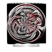 Morphed Art Globe 15 Shower Curtain