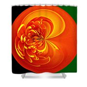Morphed Art Globe 19 Shower Curtain by Rhonda Barrett