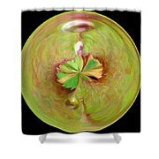 Morphed Art Globe 21 Shower Curtain by Rhonda Barrett