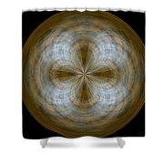 Morphed Art Globe 24 Shower Curtain by Rhonda Barrett