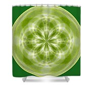 Morphed Art Globe 27 Shower Curtain by Rhonda Barrett
