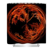 Morphed Art Globe 37 Shower Curtain