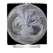 Morphed Art Globe 4 Shower Curtain