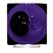 Morphed Art Globe 6 Shower Curtain by Rhonda Barrett