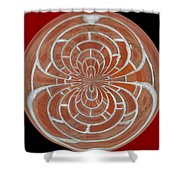 Morphed Art Globes 17 Shower Curtain