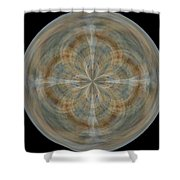 Morphed Art Globes 25 Shower Curtain
