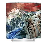 Morphing Obscure Horizons Into Shifting Emotions Shower Curtain