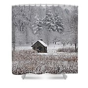 Morris Arboretum Mill In Winter Shower Curtain