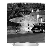 Morris Minor And The Wave Shower Curtain