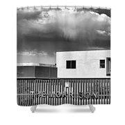 Morrison Cloud Bw Palm Springs Shower Curtain