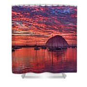 Morro Bay On Fire Shower Curtain