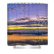 Morro Bay Panorama Shower Curtain