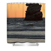 Morro Beach Sunset Shower Curtain