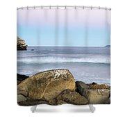 Morro Rock Morning Shower Curtain