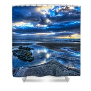 Morro Strand Reflections Shower Curtain