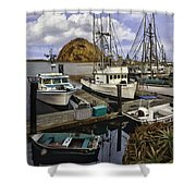 Morro Sunrise Shower Curtain