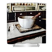 Mortar And Pestle In Apothecary Shower Curtain