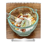 Mortar And Pestle With Drugs Shower Curtain