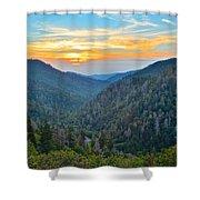 Mortons Overlook Smoky Mountain Sunset Shower Curtain