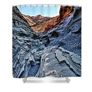 Mosaic Canyon In Death Valley Shower Curtain